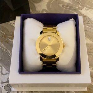 Movado Bold Gold Pavé Watch
